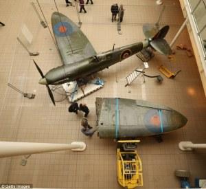 IWM London Spitfire Mk.I Moving Dec 2012