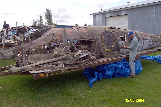 De Havilland Mosquito KA114 wreck 2004