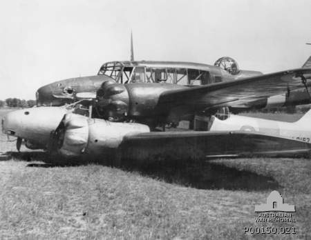 mid-air collision of two Avro Anson aircraft, on a training flight from No. 2 Service Flying Training School (2SFTS) based at Wagga Wagga