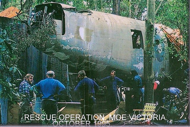 B-24 fuselage as found in Moe 1995