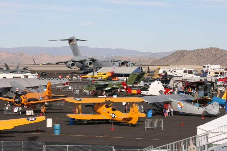 Heritage Trophy entrants and static aircraft displays Reno Air Races 2012
