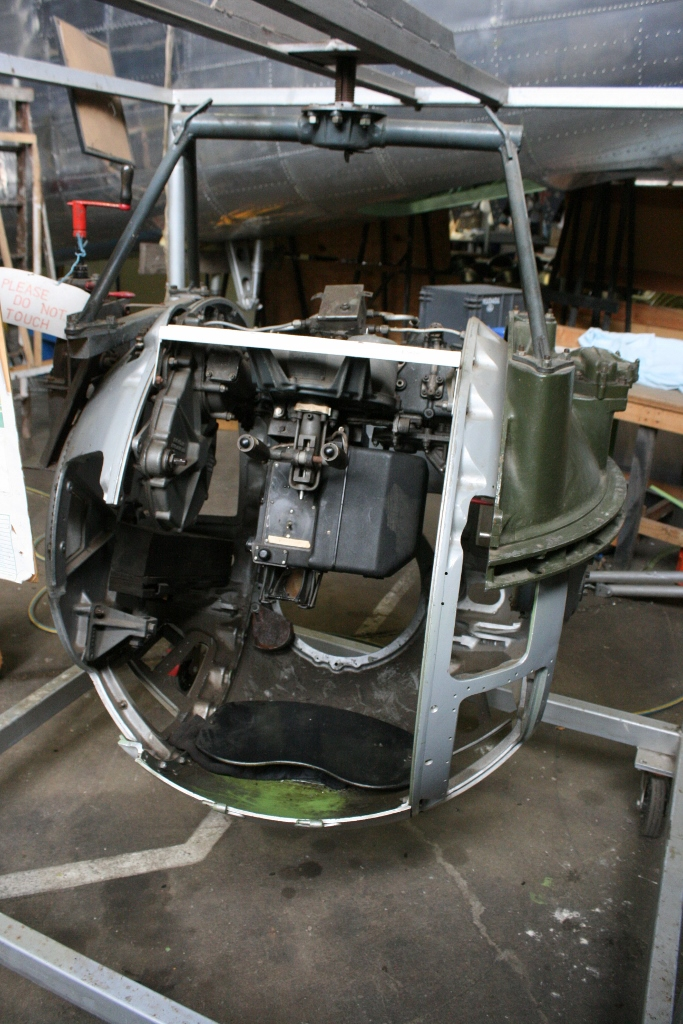 B-24 ball gun turret interior