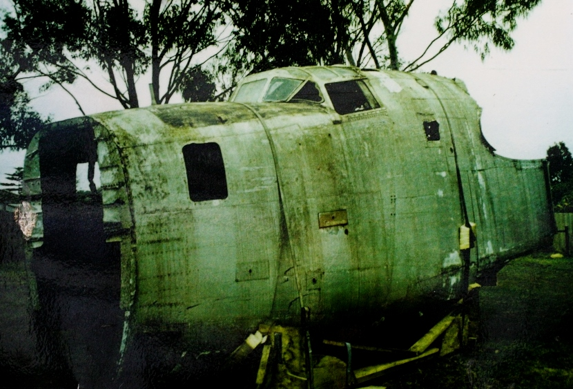 The nose section of the B-24 being prepared for shipping to Werribee in 1995 B-24 Liberator Restoration Fund