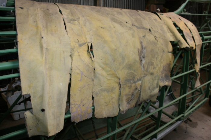 An old remnant of original fabric from and Avro Anson