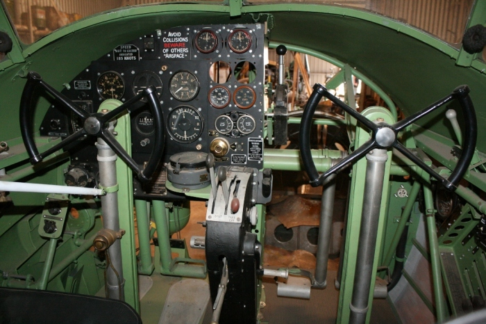 Avro Anson cockpit restoration nhill aviation heritage centre