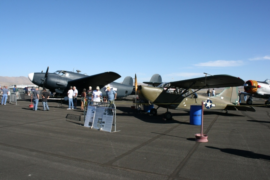A Lockheed Ventura and the trophy winning OY-1 Reno Air Races 2012
