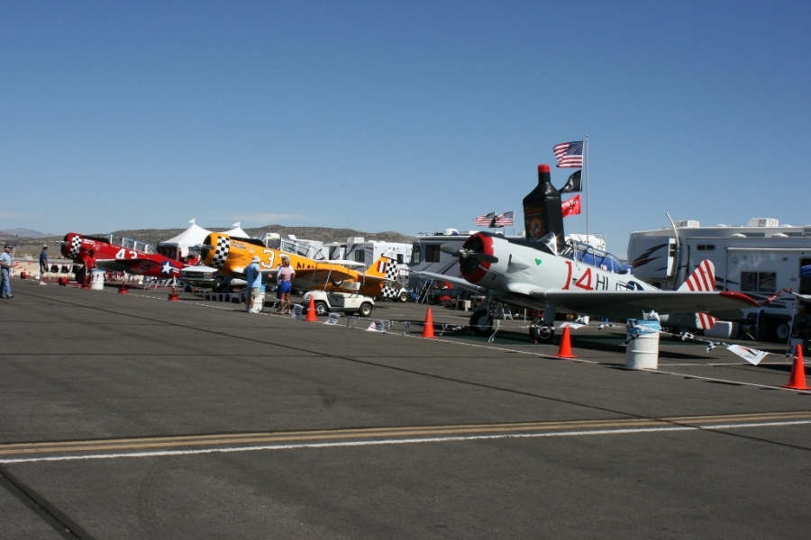 Pit area for the T-6 Class Reno Air Races 2012