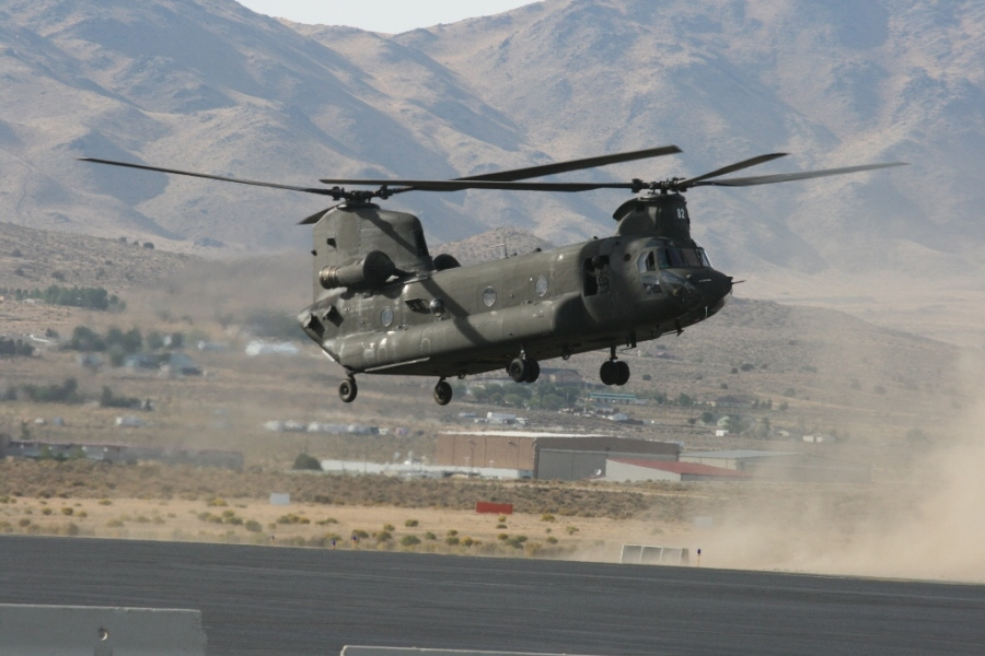 US Army CH-47 Chinook Reno Air Races Nevada USA