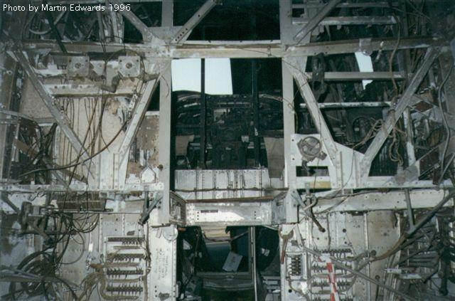 Looking up to the B-24 cockpit in 1996 Werribee