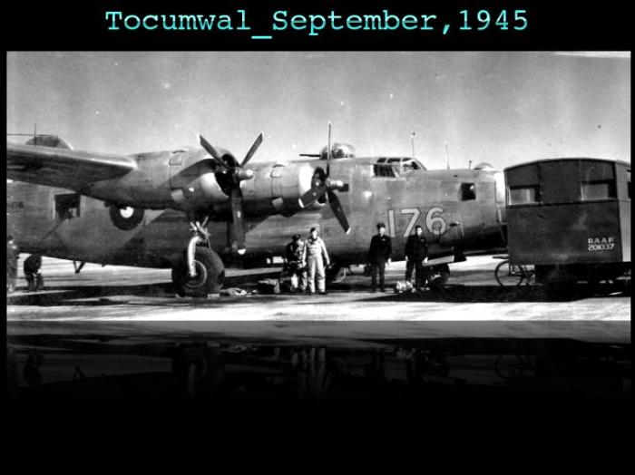 B-24 A72-176 at RAAF Tocumwal in 1945