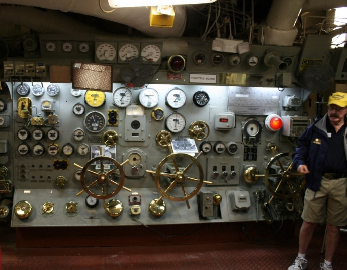 Engine controls USS Midway
