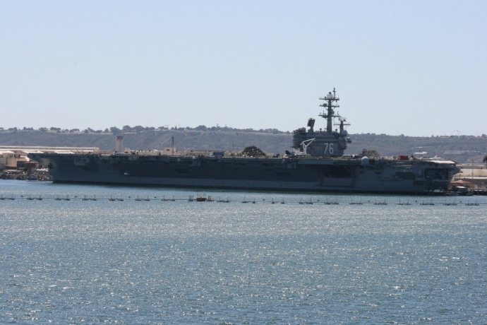 USS Ronald Reagan (CVN-76) in dock San Diego
