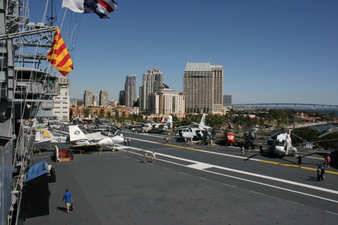 Flight Deck USS Midway San Diego