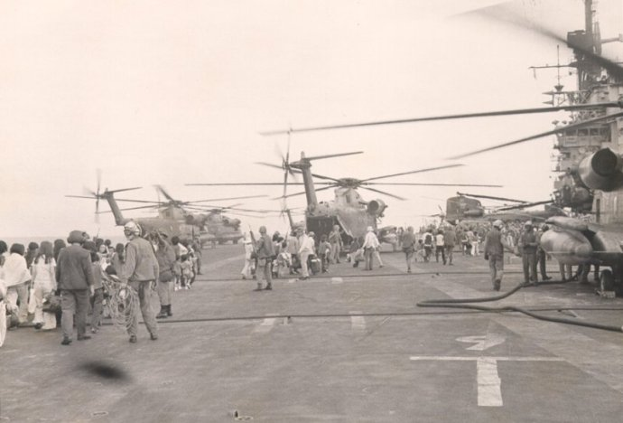 Operation Frequent Wind 1975 USS Midway