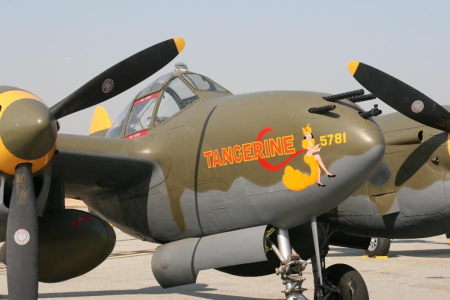 Tangerine Nose Art P-38