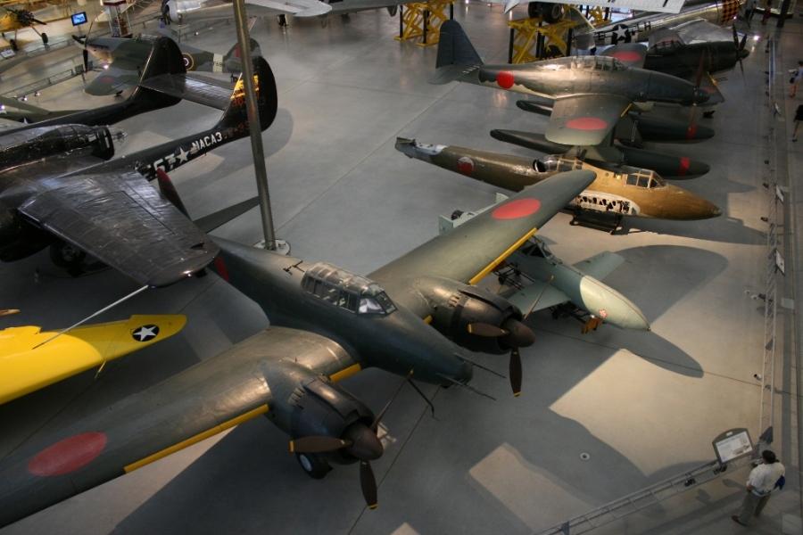 Japanese aircraft collection Steven F Udvar Hazy Centre Virginia USA