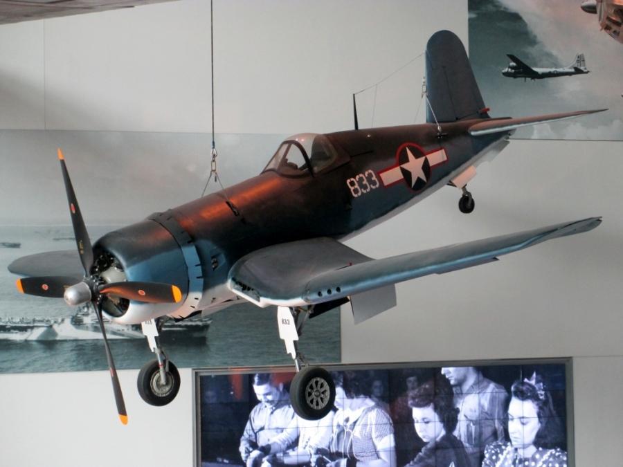 US Navy Vought F4U Corsair National WW2 Museum