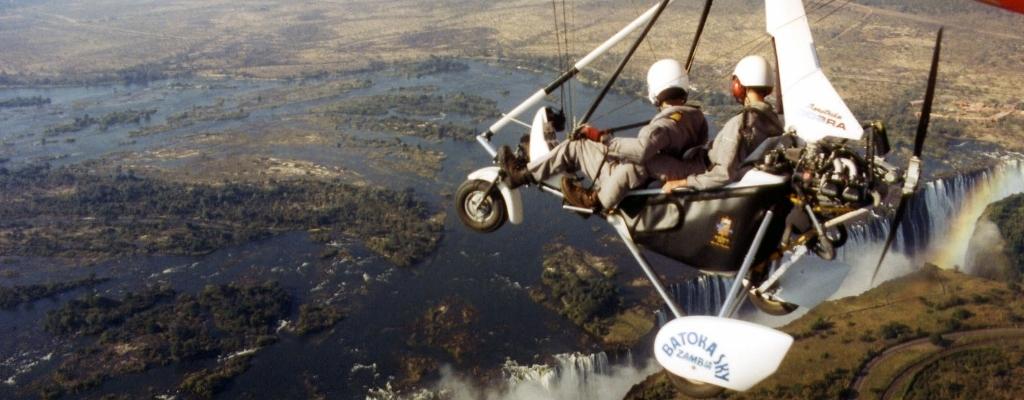 ultralight flight over victoria falls africa
