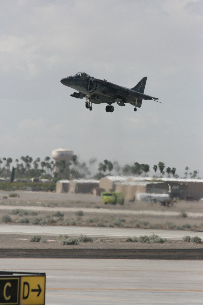 Harrier II vertical landing and take off demonstration Yuma Airshow 2015
