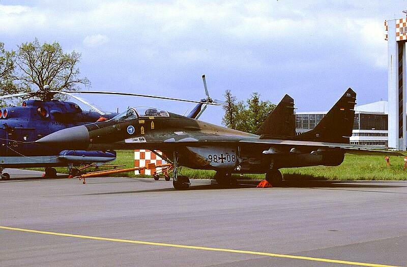 A former GDR MiG-29A retains the old camo scheme but features new Luftwaffe markings (Photo Source: DDR-Luftwaffe)