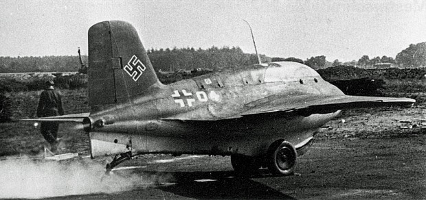 An Me-163 moments before take-off
