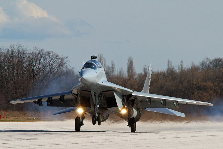 Serbian Air Force MiG-29UB two-seat trainer of the 204th Air Brigade