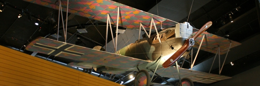 Imperial German Air Service Pfalz D.XII scout aircraft at the Australian War Memorial 1918