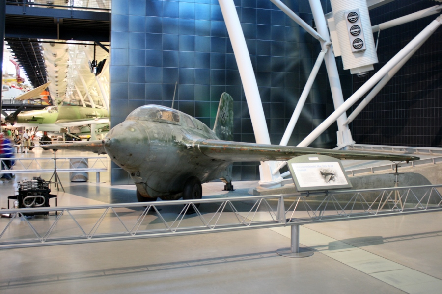 Messerschmitt Me-163B Komet rocket powered interceptor at the Smithsonian National Air and Space Museum - Steven F. Udvar-Hazy Center in Chantilly, Virginia (photo taken during my 2013 visit to the museum)