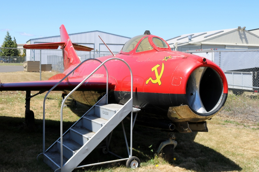 """""""MiG Magic"""" is more or less perfectly fine on the starboard side Oregon Air & Space Museum"""