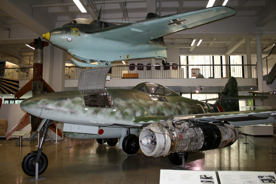 Messerschmitt Me-163B Komet and Me-262A Schwalbe at the Deutsches Museum in Munich