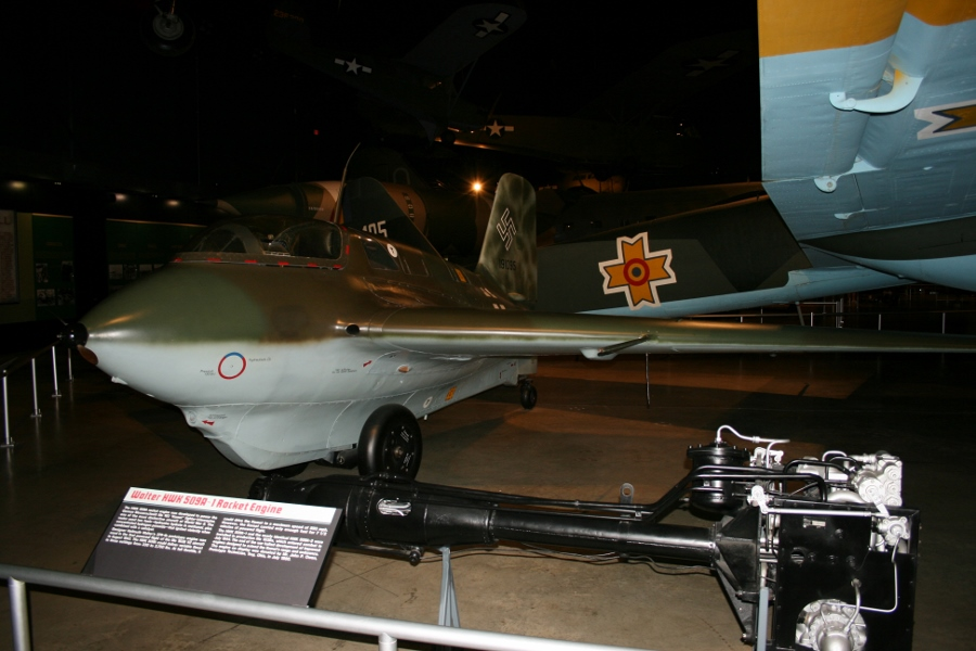 Me-163B Komet (S/N 191095) with a Walter HWK 509A rocket motor at the National Museum of the US Air Force in Dayton, Ohio in 2009