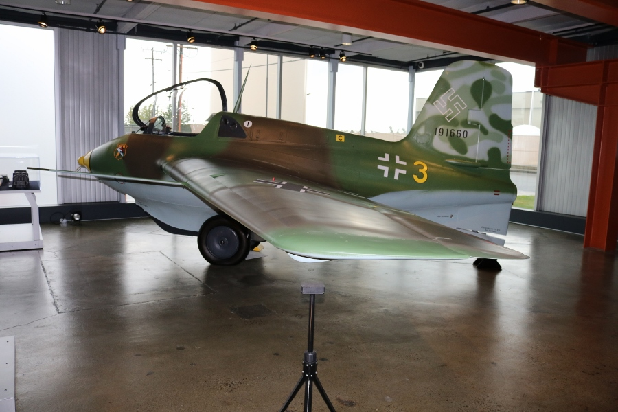 1944 Messerchmitt Me-163B Komet rocket interceptor at FHC in June 2016
