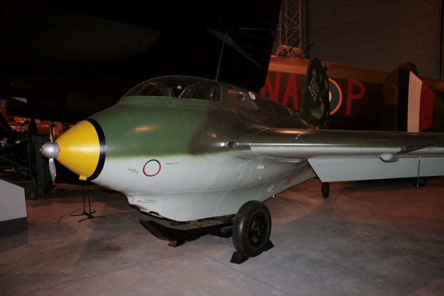 Me-163B-1a Werknummer 191916 at the Canada Aviation and Space Museum in 2013