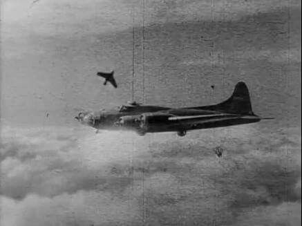 Me-163 pass on USAAF B-17