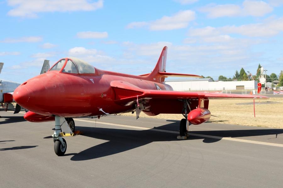 Hawker Hunter F.Mk.51 Classic Aircraft Aviation Museum at the Oregon International Air Show 2016