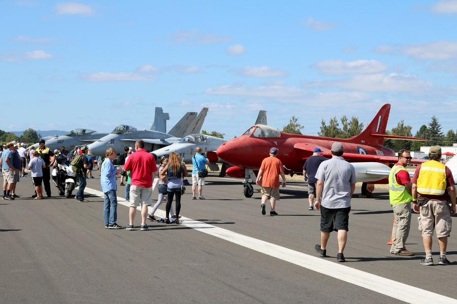 Classic Aircraft Aviation Museum US Navy jets at the Oregon International Air Show 2016