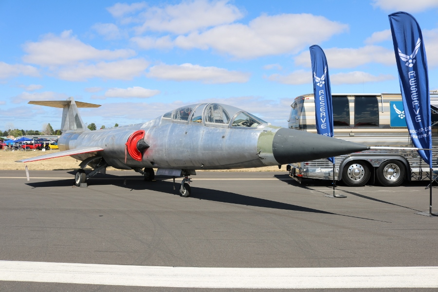 Lockheed TF-104G Starfighter two-seat combat trainer Oregon International Air Show 2016