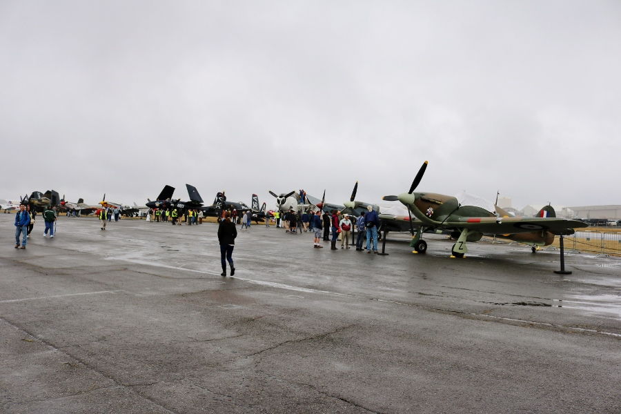 Things were looking a bit grim weather wise for the Saturday morning of Vintage Aircraft Weekend 2016