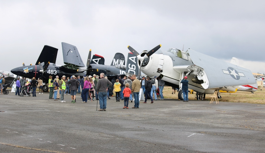 Grumman Greats - F7F Tigercat, F8F Bearcat & TBM-3E Avenger Vintage Aircraft Weekend 2016