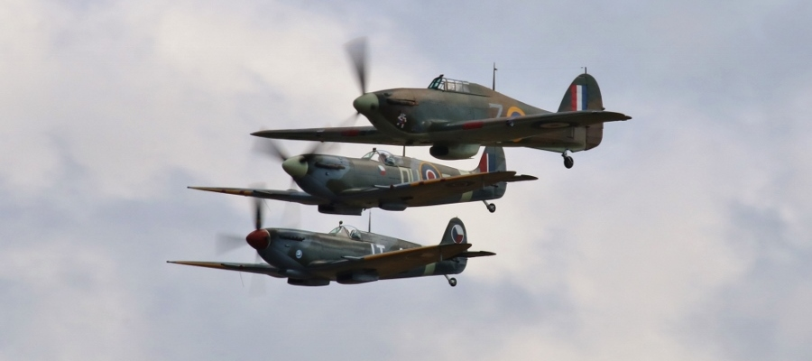 Hurricane Spitfire Vintage Aircraft Weekend 2016