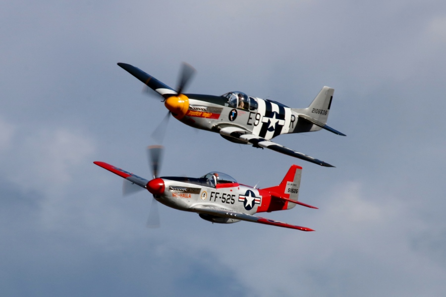 North American P-51B & P-51D Mustang Vintage Aircraft Weekend 2016