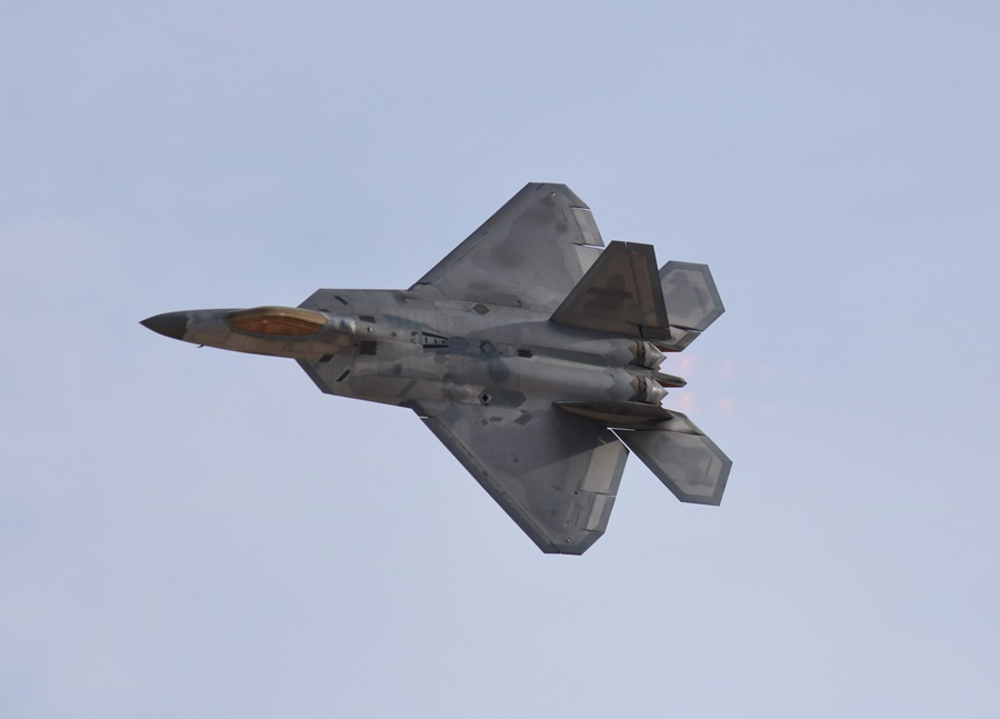 USAF Lockheed Martin F-22 Raptor fifth generation air dominance fighter Aviation Nation 2016
