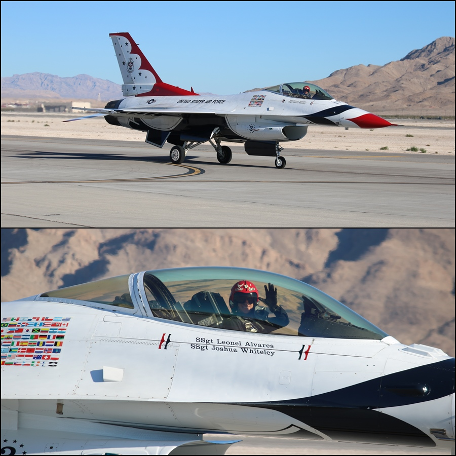 "USAF Thunderbird 3 - Major Alexander ""Gate"" Goldfein Aviation Nation 2016"
