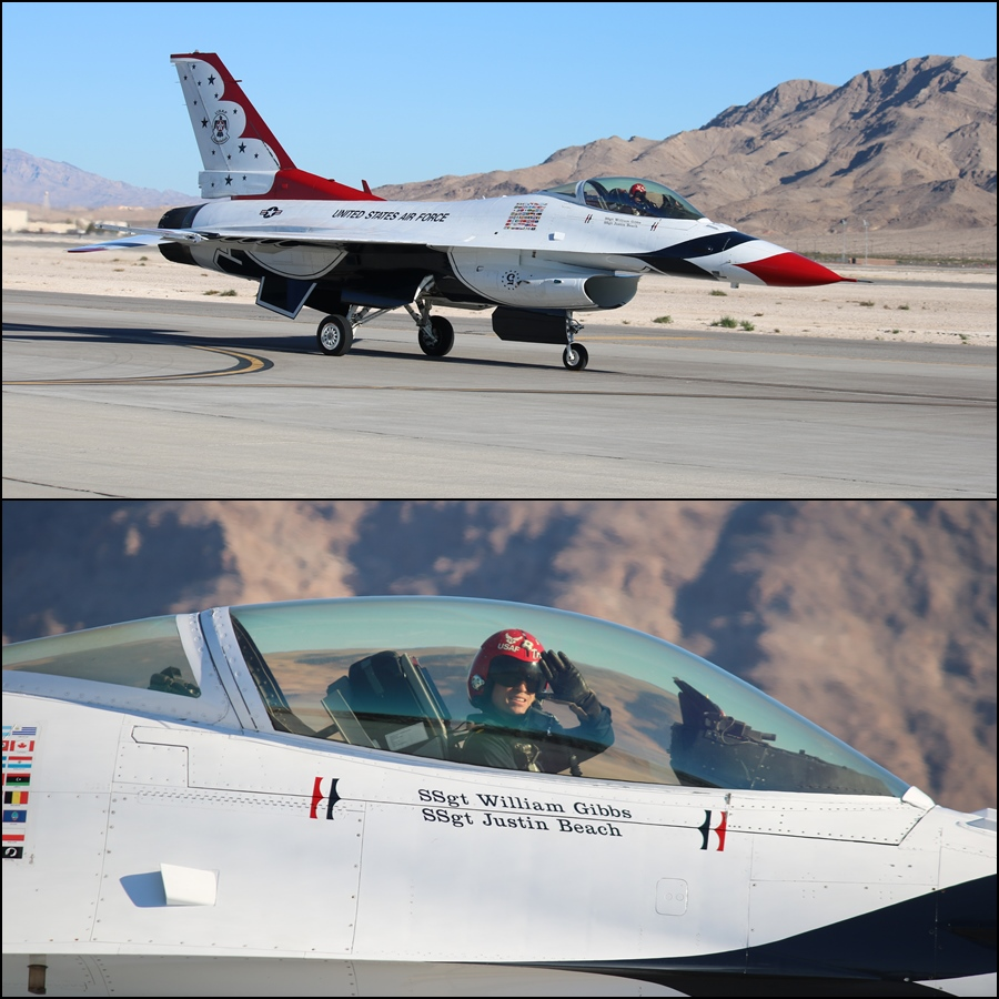 "USAF Thunderbird 5 - Captain Nicholas ""Tred"" Eberling Aviation Nation 2016"