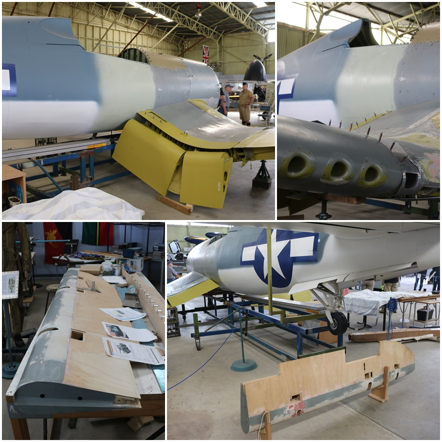 Classic Jets Fighter Museum Vought F4U-1 Corsair restoration Parafield Airport South Australia