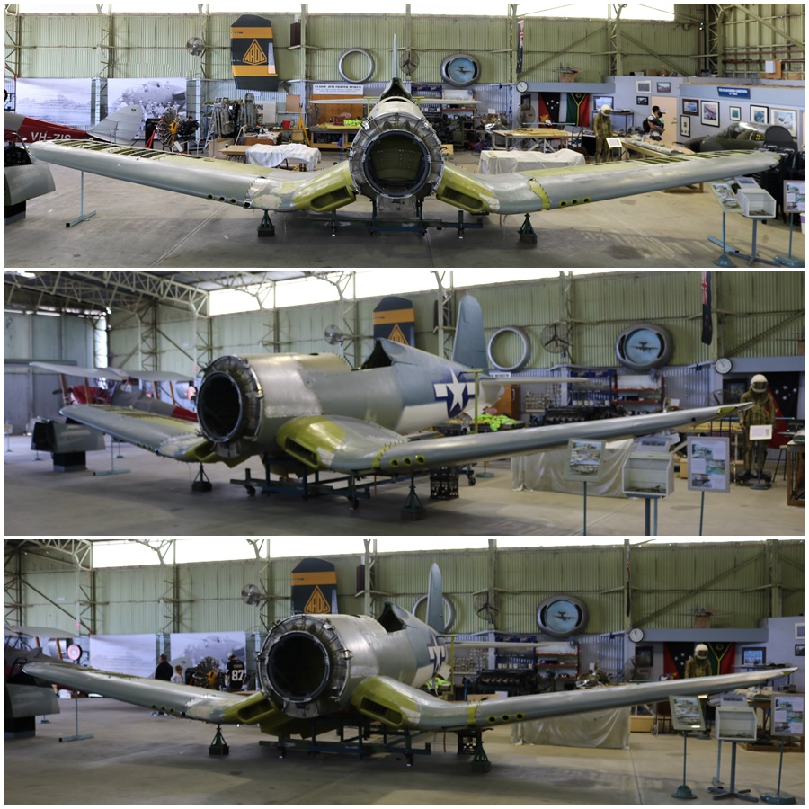 Classic Jets Fighter Museum Vought F4U-1 Corsair restoration - Parafield Airport, South Australia April 2017