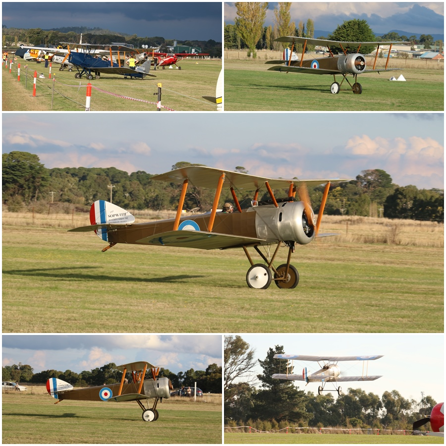 Sopwith Pup replica departure Kyneton Air Show 2017