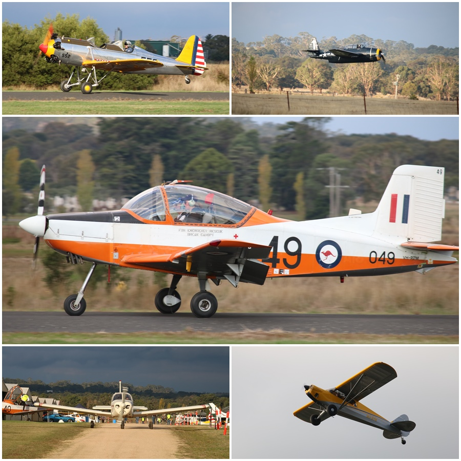 Kyneton Air Show 2017 aircraft departures