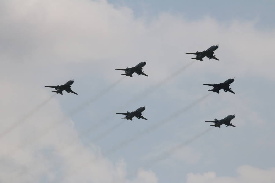 Su-22M4 Polish Air Force opening flypast Radom Air Show 2017