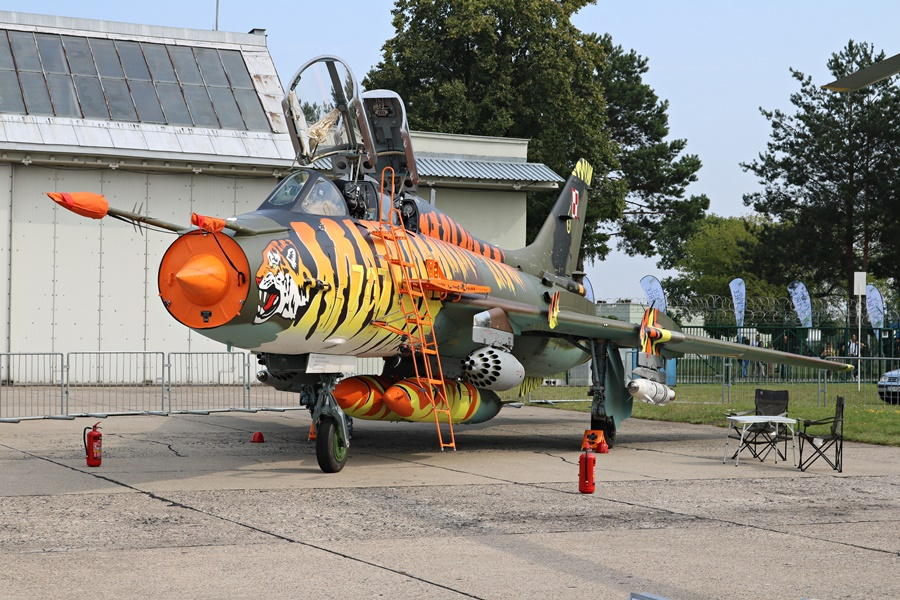 Polish Air Force Sukhoi Su-22UM3K Fitter G NATO Tiger Meet livery at Radom Air Show 2017